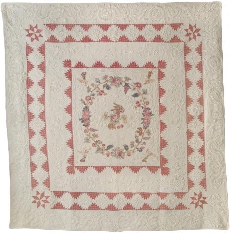 Framed Medallion Quilt, 1820s