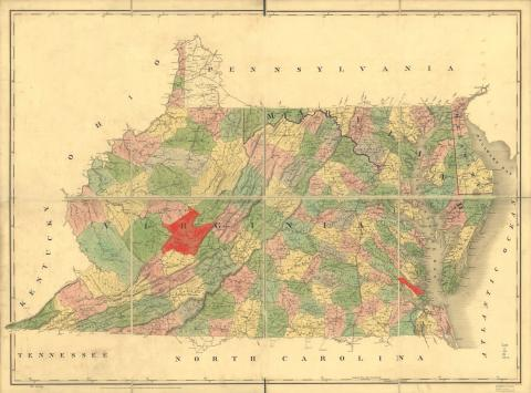 York County, Virginia and possibly Greenbrier County, Virginia (now West Virginia)