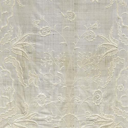 """Embroidered Whitework """"Candlewick"""" Counterpane"""